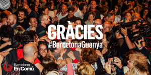 """Thanks #BarcelonaWins"" from Barcelona En Comu"