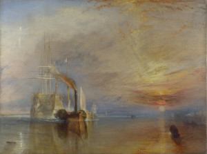 The Fighting Temeraire Towed To Its Last Berth by JMW Turner.
