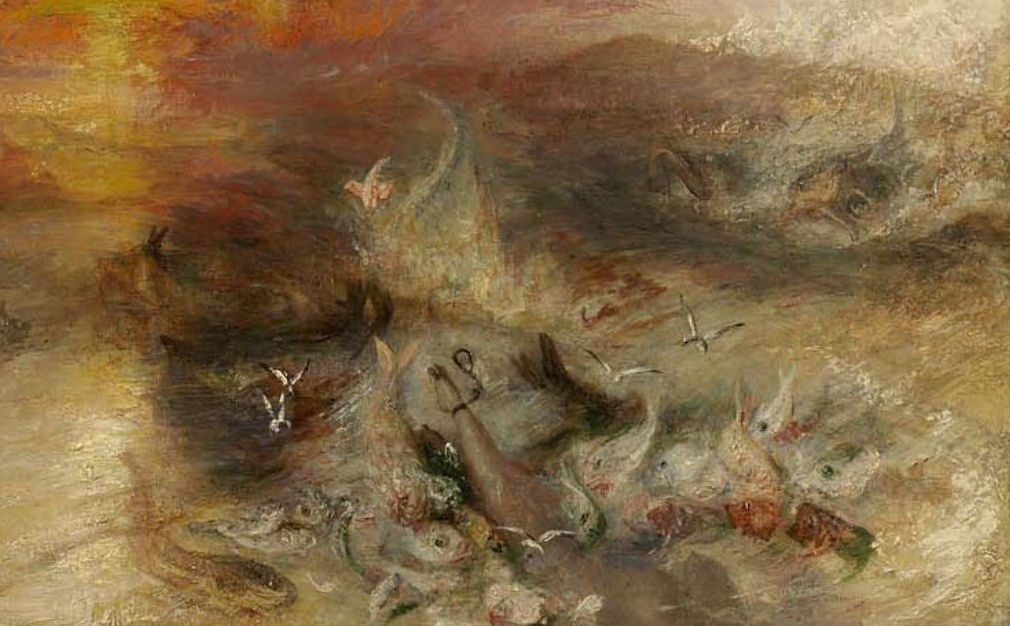 "Detail from bottom right of Turner, ""Slavers"""