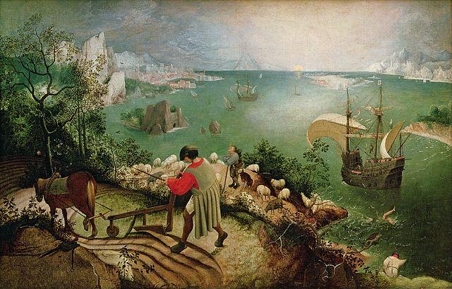 """(After) Pieter Bruegel de Oude, """"De val van Icarus"""""""