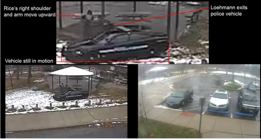 Annotated video still shown to the grand jury in the case of Tamir Rice