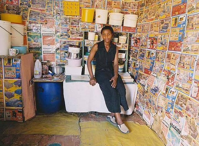 """Interior""  (2000) Zwelethu Mthethwa"
