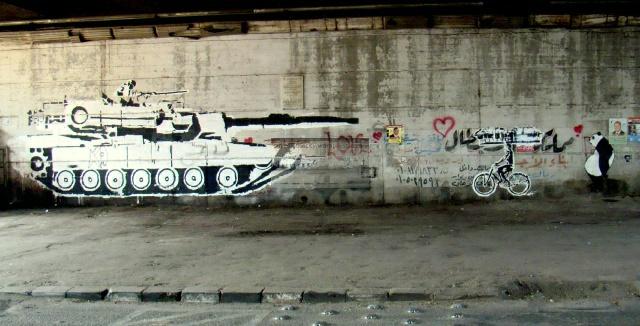 "Ganzeer ""Tank versus Bike"""