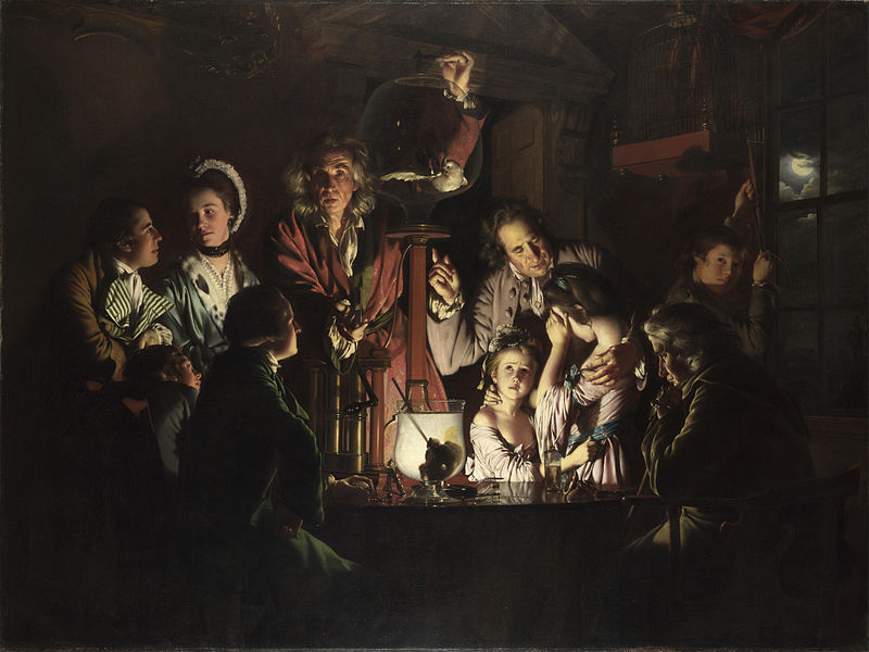 """An Experiment on a Bird in an Air Pump"" by Joseph Wright of Derby (1768)jpg"