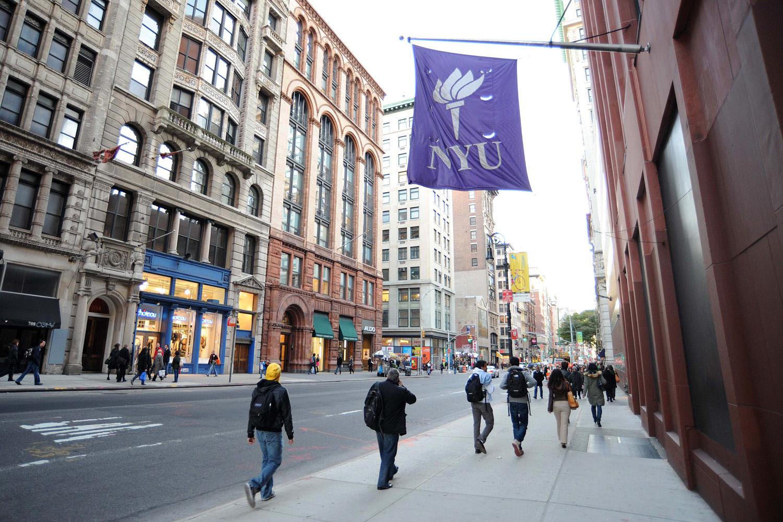 NYU campus banner