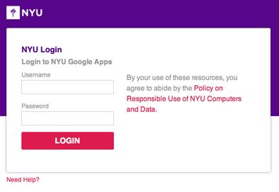 Screenshot showing spoofed NYU login prompt