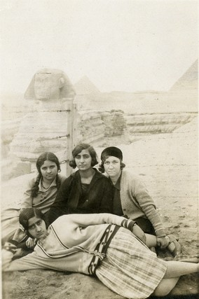 A photo of four unknown women in Egypt, the year also unknown, from the Yasser Alwan Collection at NYUAD. Courtesy Akkasah, the Centre for Photography, NYUAD
