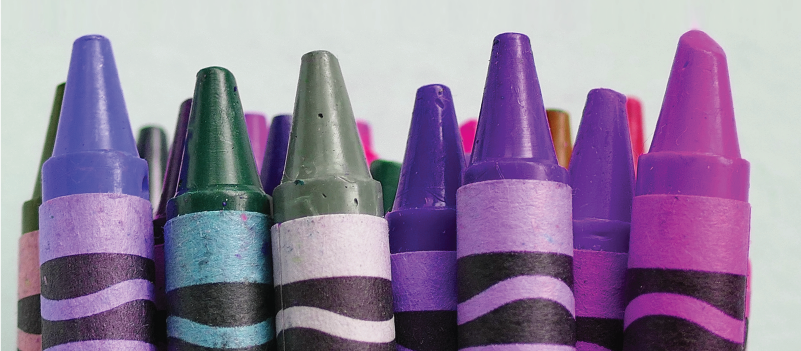 photo: stack of crayons