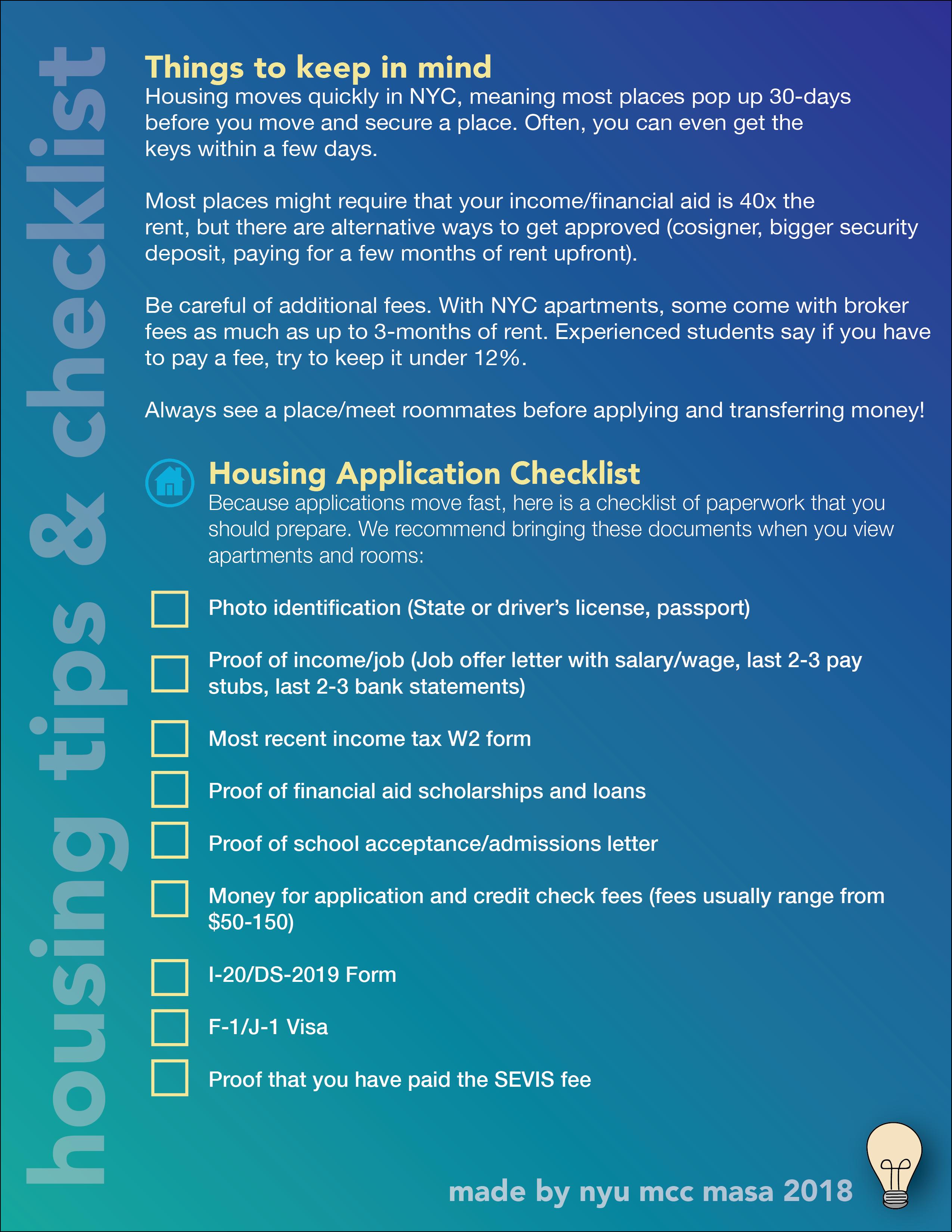 Housing Tips