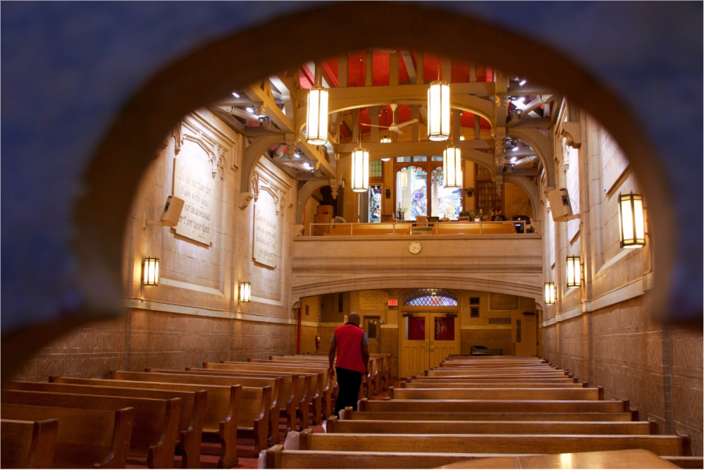 church archways and pews