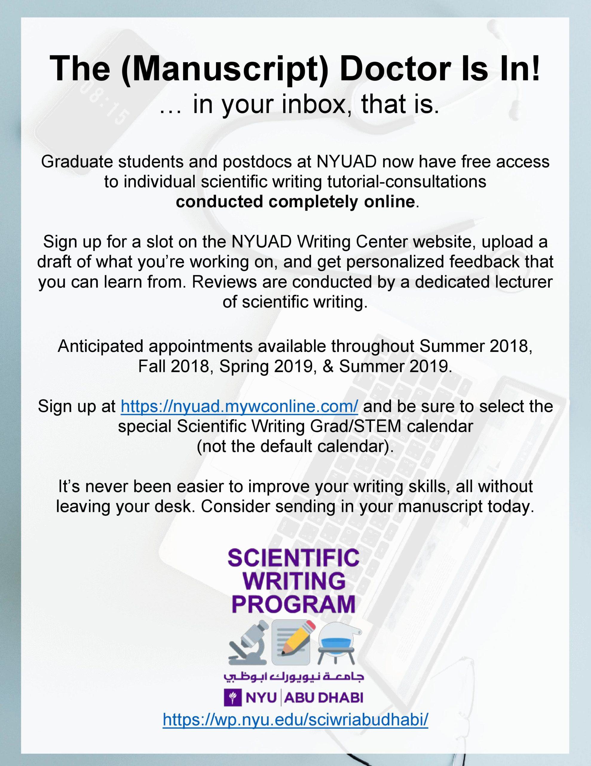 Updates – Scientific Writing Program at NYU Abu Dhabi
