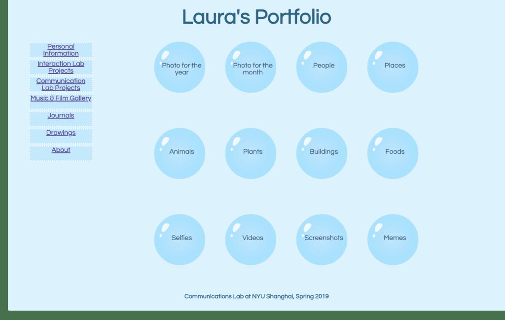 Week 3: Basic HTML/CSS website-Laura Huang – IMA Documentation