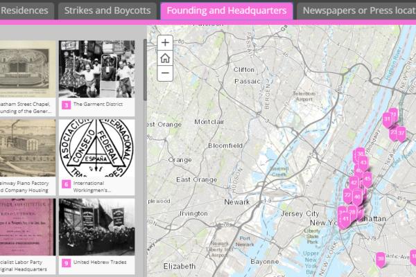 New York City Labor History Map screenshot 1