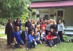 Writers Lab founders, mentors and participants at Wiawaka (Photo by Kim Turner)