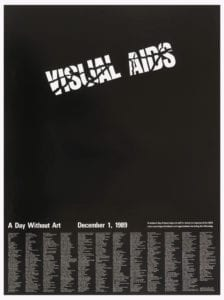 1989 Day Without AIDS poster