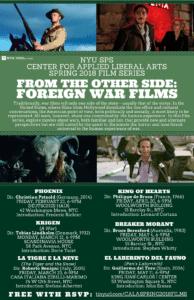 CALA Film Series Screening on Monday, March 12th: Krigen