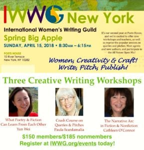 Women, Creativity & Craft:  Write, Pitch and Publish at this year's Spring Big Apple conference