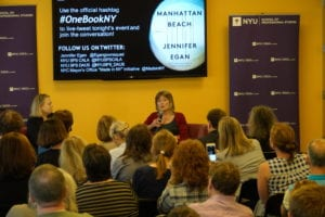Jennifer Egan Discussed Her Novel Manhattan Beach at NYUSPS One Book, One New York Event