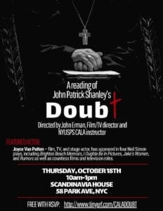 Special Event: A Reading of DOUBT by John Patrick Shanley, directed by John Erman