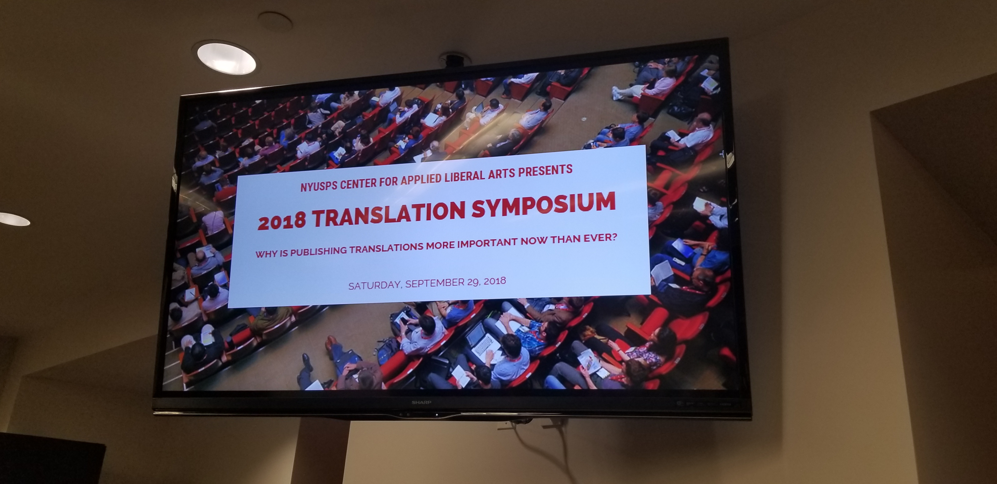 NYUSPS/NSTS 2018 Translation Conference
