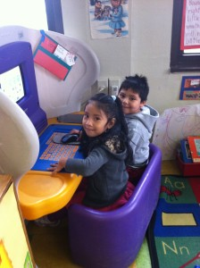 picture of 2 children playing
