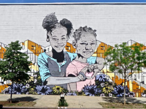 Graffiti of two girls