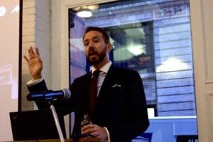 Professor Rodrigo Zeidan speaking