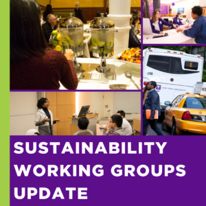 Sustainability Working Groups Update