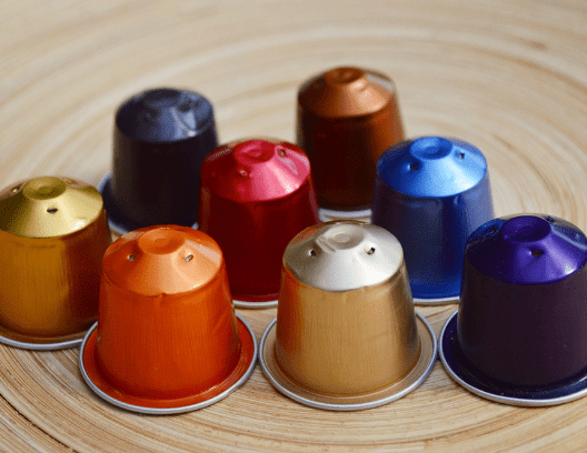 aluminum coffee pods