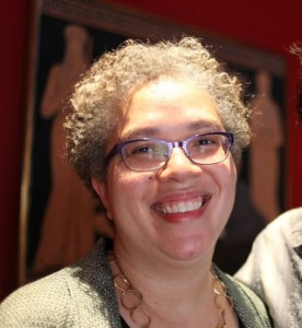 Dean Gabrielle Starr at a reception honoring 2015 Guggenheim Fellows