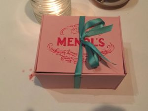 Mendl's box at Eleven Madison Park