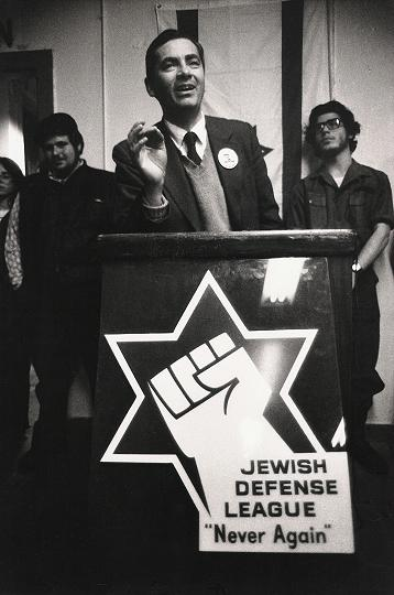 Meir Kahane speaking in 1975 (Photo: EA Schwartz)