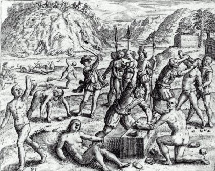 Illustration from Bartolome de las Casas's The Devastation of the Indies