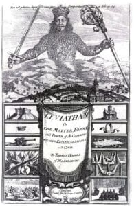 The frontispiece of the book Leviathan by Thomas Hobbes; engraving by Abraham Bosse