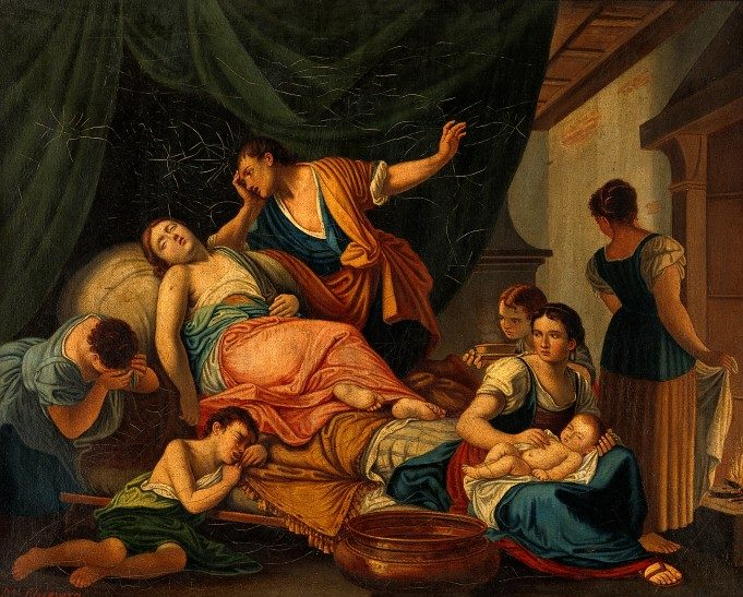 V0017250 The birth of Benjamin and the death of Rachel. Oil painting Credit: Wellcome Library, London. Wellcome Images images@wellcome.ac.uk http://wellcomeimages.org The birth of Benjamin and the death of Rachel. Oil painting by D. Chiesura after Giovanni Battista Bettini, called il Cignaroli. By: Giovanni Battista Bettiniafter: Domenico ChiesuraPublished: - Copyrighted work available under Creative Commons Attribution only licence CC BY 4.0 http://creativecommons.org/licenses/by/4.0/