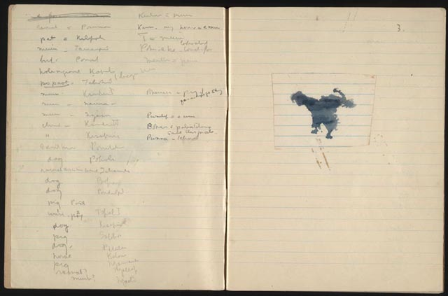Margaret Mead. Field notebook with projective testing materials, Manus, Admiralty Islands, 1929. Manuscript Division, Library of Congress (99)