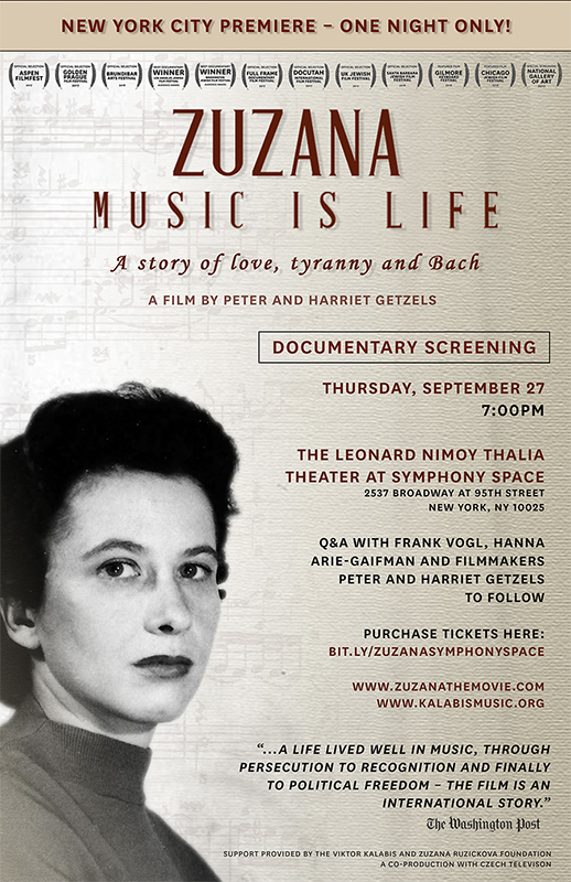 ZUZANA: Music is Life, NYC Premiere – NYU Kanbar Institute of Film