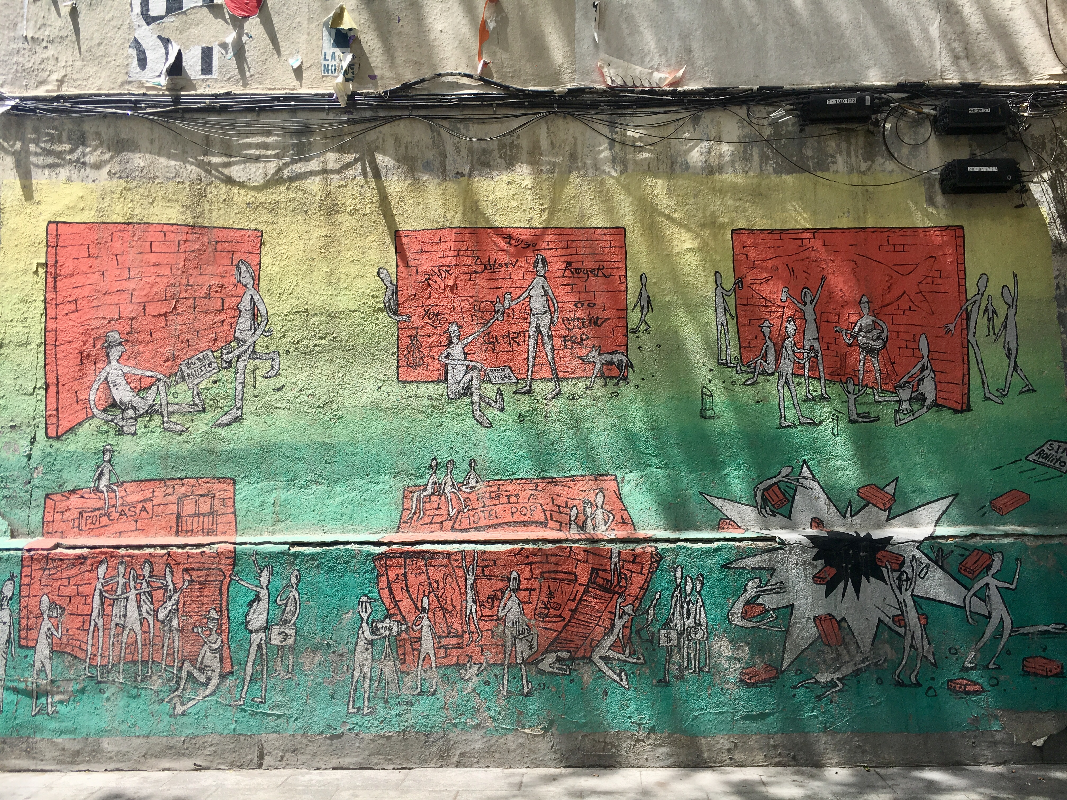 Street Art near Plaza de Lavapiés referencing gentrification