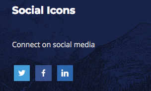 Screenshot of the Social Icons plugin.